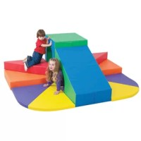 Who's coming round the mountain? Little mountain climbers will find this unique wall climber successfully challenging with tiered steps a big slide and tunnel for exploring. Mountain scaling will delight children and develop gross motor skills.