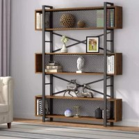 This creative 6-tier bookcase is ideal for limited space storage options! Brimming with modern charm, this bookcase is a welcome complement to your home and office! Crafted with metal frame, it features a natural wood grain top and six-tier shelf for ample storage.