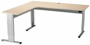 The Infinity Perfect Corner boasts a surface area. This sleek, modern L-shape desk provides smooth, practically silent height adjustment at the push of a button. Meets and exceeds ADA requirements and adheres to human factor ergonomic standards.