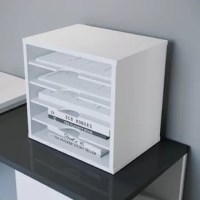 UNIQUE DESIGN: Features 5 open storage spaces designed to adjust each shelf based on your desirered space need as an option for larger items like book, larger folders, staplers, sticky notes etc.