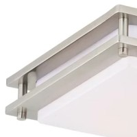 This low profile flush-mount ceiling light provides excellent light output thanks to the integrated LED light source. This features patented Dim-to-Warm technology that works like a traditional incandescent bulb starting with warm white color temperature 3000K at 100% brightness dimming to a much warmer candlelight 2200K at 10% brightness. The Horizon series of ceiling lights brings energy-efficiency, no-bulb-changing convenience, and versatile transitional styling to your hallway, closet...