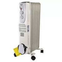The 1200 Watt Electric Radiant Radiator Heater is a great way to save money on your heating bills. By lowering the overall temperature of your home or office and simply using this heater to keep the room you are currently occupying comfortably, you can cut your energy usage significantly. The electric radiator heater operates silently to minimize disruptions. This makes it quiet enough to leave running even while you're on the phone, studying or trying to drift off to sleep at night. Three...