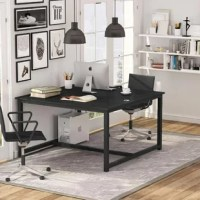 If you are okay sharing the same workspace with your family, partners, and friends, this desk is a must-have for your home office! Spacious face-to-face workspace makes it's space-saving and much more effective!