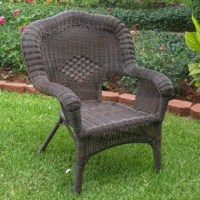 """What says """"breezy"""" and """"laid-back"""" better than wicker? With its deep seating and high back, this woven chair is a perfect pick for sprucing up the patio. Its steel inner frame is wrapped with resin wicker for a look that stands up to inclement weather while adding airy appeal to your outdoor ensemble. Plus, this design is stackable, so you can store it or redecorate with ease. Arrives in a set of two."""