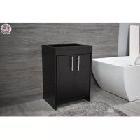 Quality-crafted and proudly made in the USA, the vanity base is a stylish addition to any bathroom. Built for extra durability and low maintenance, the cabinet's clean lines and a sophisticated profile are accentuated with a premium Canadian manufactured wood frame, soft-close hinges, fully open cabinet space, and full-size hardware. A perfect choice for your renovation, it will fit your bathroom's modern design and create a fresh look for your home.