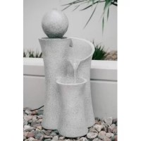 Relax and enjoy the calming water sounds with the line of fountains. This decorative fountain is sure to bring elements of peace, serenity, and class to your garden, patio, porch, or deck, while perfectly matching the surrounding decor. Create a peaceful, meditative atmosphere even in an urban jungle as you rejuvenate with this soothing waterfall fountain. Durable and long-lasting, it is made of high-quality materials to ensure years of endless enjoyment. The fountains are a statement piece for...