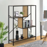 Looking for a budget-friendly place to stash all your favorite reads? This bookcase fits the bill! A perfect spot to slot your bestsellers and stage your framed photos, this corner bookcase provides storage, style, and space-saving solutions in one fell swoop.