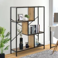 This is an industrial-style design with a minimalist and retro feel, which not only keeps your room organized, but also takes up little space. You can place it in any space of the home, such as living room, bedroom, hallway, kitchen, balcony, etc. You can display family photos, plants, decorative ornaments, books, etc.
