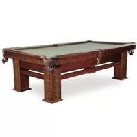 The pool table is a strong, African hardwood table with contrasting low lights on the legs and blinds. This table allows for many years of enjoyment for your family and friends.