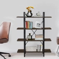 Unique Vintage Industrial Design, Decorative yet Practical This Versatile design bookshelf with a chic and industrial-style that looks great and with large capacity saves and utilizes your space for favorite books, stylish accessories, various decors, lifestyle potting and more decorative items. The industrial structural style of Gracie Oaks bookcase is an ideal Organization for all of your Storage and Display Needs. It also meets the Aesthetic of a Practicality, add a lot of interest and...