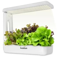 Through harsh weather and cold of winter, the Ivation Indoor Garden Kit allows you to grow all your favorite herbs, greens, veggies, and other plants sans soil or sunlight! Utilizing nutrient-rich sponges instead of dirt and 125 ultra-bright LEDs instead of the sun, this gardening technique comes with a host of bountiful benefits compared to traditional methods. Includes sponge pods to plant the seeds; baskets to keep sponges safely; planting hats to prevent algae; 2 nutrients concentrates to...