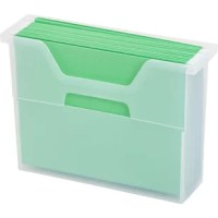 For organizing your monthly bills and school papers, our small desktop file box is the perfect size.