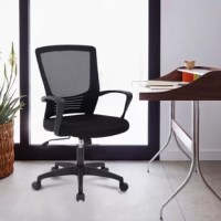 Our office chair can satisfy all your daily needs. The highly ventilated mesh back will keep you from getting stuffy when you are using it for a long time. The soft and moderate sponge cushion will fit into your sitting position for a long time. The back and armrest of the office chair are ergonomically designed so that you won't feel tired even after a long period of work. The bottom of the desk chair is equipped with a tension adjusting knob to provide a certain degree of tilt so that you can...