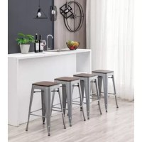 Already fully assembled and stackable for easy storage, durable enough for use in the shop or cafe, and stylish enough to use at home, the best choice for the office, party or any occasion, the stalest choice for the office, party or any occasion, add a wooden seat on the basic bar stool.