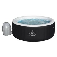 Get ready, because things are about to get hot (and relaxing) in the soothing warmth of the inflatable hot tub. It's everything you love about hot tubs, but inflatable and portable. What's not to love? The product has 120 massage jets and a cushioned floor, making it easy for you to unwind. The hot tub inflates in minutes and the rapid heating system quickly heats the water up to 104 degrees. The hot temperature is perfect for soothing sore muscles or lounging after a long day. The digital...