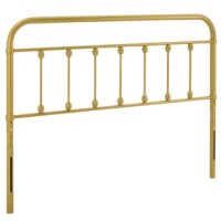 Bring in an energizing focal point to your kid's bedroom or guest room with the metal twin headboard. Inspired by the charm of modern farmhouse style, this metal headboard exudes vintage appeal and rustic grace. Create a neutral backdrop for bedding and sham styles of all types. Crafted with powder-coated iron for sturdy, lasting construction, this height-adjustable headboard features seven mounting positions and fits most twin size bed frames. Assembly required.