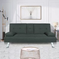 With its streamlined silhouette, modern aesthetic and low profile design, this sleeper sectional sofa bed anchors your living room layout in understated style. Founded atop metal legs in a sleek chrome finish, this piece is crafted with a solid wood frame, foam fill, and fabric upholstery in a solid hue. With its 3 angles of the back for adjusting, this multi-functional collection provides you with comfort and versatility and can convert to a bed in seconds. So, beyond stylish, this convertible...