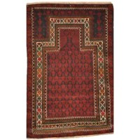 This rug is one of a kind piece of global art that will improve your living space. Afghan Balouchi rugs are made in the villages in the province of Herat, Afghanistan. Almost all Balouchi carpets on the market today are from before the last three decades. They are woven in a very primitive way on flat wooden looms that lay on the ground, with 100% wool from their own sheep.
