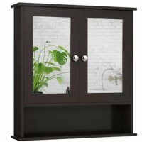 Our wall cabinet is a space saver for living room, bathroom, etc. With an open shelf and large interior space, this cabinet can hold and organize lots of items. Inner adjustable shelf meets your different needs for storage. Thanks to the magnetic door catch, doors can be closed tightly and better protect your items. For your convenience, both of them have a mirror for daily dressing. Besides, the MDF and hardware adopted are premium, water-resistant and durable to serve a long time.