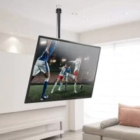 """The PCMTV15 Tilt and Swivel TV Ceiling Mount was made for saving space and creating optimum viewing pleasure. Mount virtually any TV thanks to VESA mount standard compatibility. Works with 23""""- 42"""" inch televisions up to 30 kg./66 lbs. Made to fit flat panel HDTV, LCD, LED, Plasma and Smart TVs -- from brands including Samsung, JVC, Magnavox, Panasonic, Sharp, Toshiba, Vizio and more. Add versatility to your home theater experience and mount your TV exactly where you want with the PCMTV15..."""