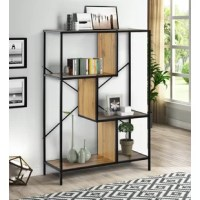 This is an industrial-style design with a minimalist and retro feel, which not only keeps your room organized but also takes up little space. You can place it in any space of the home, such as living room, bedroom, hallway, kitchen, balcony, etc. You can display family photos, plants, decorative ornaments, books, etc.