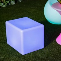 Create perfect ambient lighting for your home, party, a wedding with this LED cube mood lamp stool. With this light decor being cordless and also IP54 waterproof, you can place this cube anywhere you'd like without worry. This cube light is not only just a stool, but also an LED light with16 vibrant colors and a number of effects that morph, flash, and strobe with just a push of a button on the universal remote. Want something more subdued? That works too. You can make the LED stool cube stay...
