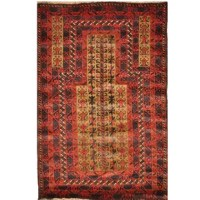This rug is one of a kind piece of global art that will improve your living space. This rug is made in the villages in the province of Herat, Afghanistan. Due to unrest in the past decades in Afghanistan, most of the weavers in the villages have moved to the cities and are no longer weaving rugs. Almost all carpets on the market today in the United States are from before the last three decades. They are woven in a very primitive way on flat wooden looms that lay on the ground, with 100% wool...