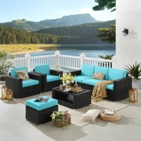 This rattan sofa perfect combination of vogue elements and practicality displays the artistic sense Modern design, simple and beautiful, This seven-piece rattan sofa with comfortable cushions, Allows you to spend pleasant and warm outdoor time with your family and friends. Let you enjoy the feeling of vacation at home.