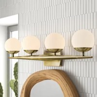This halogen wall sconce is the ultimate mid century vanity light. This halogen vanity light works well in bathroom or powder room settings.