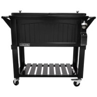 This antique Furniture style 80 QT Steel Patio Cooler cart will add elegance to any backyard and outdoor patio. Entertain your guests with this beautiful powder-coated steel Patio Cooler that is well constructed with its insulated basin to keep your beverages cold up to 36 hours. It holds up to 110 – 12oz cans with plenty of room for ice. Featuring injected molded insolation to keep your drinks cold for the duration of the party and beyond, powder-coated finish for long life, and split double...