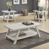 This Filipek 3 Piece Coffee Table Set provides your room with a lodge-style feel that's at once stunning and welcoming. The compact frame of this coffee table set is built from fine hardwood solids with wide-angled legs in the finish.