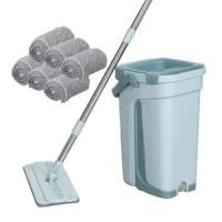 With the microfiber spray mop, cleaning your floors doesn't have to be labor-intensive or time-consuming. With its' blend of polyester and nylon fibers that use a static charge to trap dirt, the mop removes more debris than traditional cotton mops. This makes it effective for use as either a dust mop or wet mop on all types of flooring. Because it features a flat, square mop head and 360-degree pivoting handle, it gets into corners and under low-sitting furniture with ease.