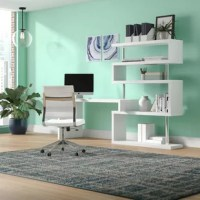 This Rotating Office Corner Desk features an original rotating design that can be adjusted to your needs and contains plenty of additional storage space. The modern look adds a touch of class to your office or home and is crafted from high-grade materials. The multi-functional, space-saving design allows it to fold and store away easily when not in use and makes it ideal for corner placement. Create a stylish working station, storage unit, and display case in one with this unique offering from...