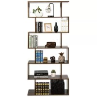 This 6-tier bookcase can be adjusted to face your different demands giving you multiple placing options. With modern design and durable construction is very stable and sturdy.You can place it in your living room, bedroom, office etc.