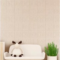 Decorative panel for walls made of polystyrene. A super lightweight and impact-resistant plastic. Can be installed with wallpaper glue and spray painted. Contains installation manual and video.