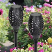 This set of 4 Solar Flame Torch provides a flickering, dancing flame that looks like a real torch. Environmentally friendly and energy-efficient, it is solar-powered and weather resistant. A safe substitute to real flames and perfect to add glow to any outdoor space.