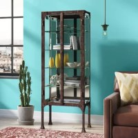 Inspired by a turn-of-the-century surgeon's cabinet, this unique casual design can fit into any decor and be decorative and useful in any room. With all Steel and Iron construction, state-of-the-art LED lighting.