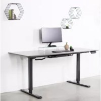 Bradford Ergonomic Adjustable Height Electric Standing Desk is the perfect piece to your standing desk station, allowing you to find that much needed healthy balance of sitting and standing throughout the long workday. This is a single motor electric desk frame (frame only) and requires a separate purchase of a tabletop. Assembly is an easy-to-do process and we include all the necessary hardware to get your desk frame put together and mounted to your desired desktop. Features include...