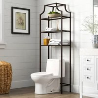 Stylish and modern, this space saver is an eye-catching and practical storage solution. Designed to fit over most standard toilets, this space saver features three tempered glass shelves perfect for storing all your bathroom essentials without overwhelming the space. The pagoda-styling and sleek steel frame add visual interest making this a great addition to any bathroom.