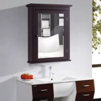 This wall-mounted mirror cabinet combines stylish and functionality to create a modern home furnishing which is ideal for use in the bathroom. With brown finish elegant and simple appearance, this mirror cabinet will well match with your furniture in your home. It can perfectly blend in various decoration styles and leave your guests a deep impression. Featuring a 2-tier cabinet with a mirror, this cabinet adds storage space to your room.