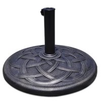 This heavy-duty umbrella base is ideal for holding your beloved umbrella to beautify your surrounding environment. It is a really practical addition to your backyard or your patio area. Includes a coupler to allow it to fit in diameter umbrella poles. Includes a hand-turn knob for securing an umbrella to the base.
