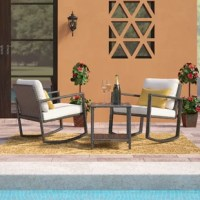 This seating group is designed for both modernistic style and everlasting comfort. Its elegant and contemporary design creates the ideal outdoor dining experience for your patio, garden or pool area.