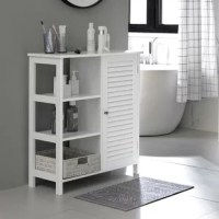 A bathroom furniture piece to make a calm and relaxing environment where you can free your mind from worries, recharge your batteries, and start or end the day with a positive mood. The internal shelf behind the door with 3 heights is available to easily accommodate items of different sizes. Equipped with a chrome-plated metal knob, which makes it easy to open and close. The all-white cabinet with a simple silhouette brings a touch of fresh and elegant glam to your bathroom. Not only for the...