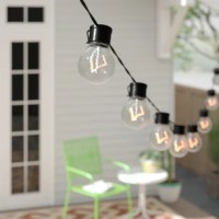 These are a set of 10 solar string light bulbs, are designed to add year round lighting and decor to any patio, deck, pathway, tree or trellis. This package includes an interchangeable clip and stake which enables the high-efficiency solar panel to be mounted in a wide variety of locations. The solar panel features a built-in day/night sensor which automatically turns on each night for us to 8 hours and then off each morning to charge. Choose between steady and flashing modes!