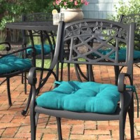 Instantly enhance the look and feel of your favorite dining chairs – inside or outdoors – with this product. Deep button tufting offers a tailored touch while 3.5