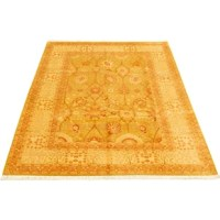 The strong Persian influence is immediately recognizable in this high-quality hand-knotted rug. Striking and majestic, these high knot count rugs reflect the famous designs and colors of the older Persian rugs. These stunning area rugs are magnified by a versatile palette of strong hues and rich tones that blend traditional and modern elements to embody elegance and sophistication.