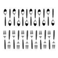 This versatile Latitude Run Demitasse, Forged Coffee Spoons and Cocktail Forks, set of 24 pieces is ample and perfect for any occasion or course. You will receive 12 coffee spoons and 12 cocktail forks. The Demitasse size will tremendously accompany any tablescape from cocktail, tasting menus, appetizers, cake, dessert, or fruit to coffee, and espresso. This set has no limits, use for any occasion, special or every day. Finely Forged Handles & Stainless Steel, Top Shelf Dishwasher Safe...