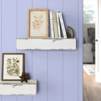 Whether you want to display decor or stow your books, this Reclaimed Distressed Wood Floating Shelf is the perfect pick for your home. A simple, lodge-worthy design, it is handcrafted in America from solid pine, so no two pieces are exactly alike. The painted and distressed finish highlight this shelves rustic style, while the included wooden 2 x 4 hanging brackets makes it easy to install.