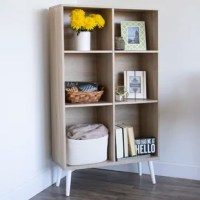Display books, photos, and your favorite home decor using the Humble Crew Bookcase. Our six adjustable shelves allow you to maneuver and customize the cubbies to the perfect size. This bookshelf cubby unit will keep your belongings organized and accessible. Our spacious bookcase complements existing furniture as well as other pieces we have in our collection. Product dimensions: 31.50