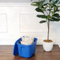 This 10 gallon storage container is perfect store shoes, clothes, seasonal holiday decorations, personal items and more. The solid color design enables privacy, where the contents inside the plastic container cannot be seen. Snap-on lid secures safely in place. Stack multiple containers on top of one another and save valuable storage space.